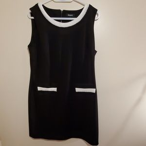 Dkny black and white dress
